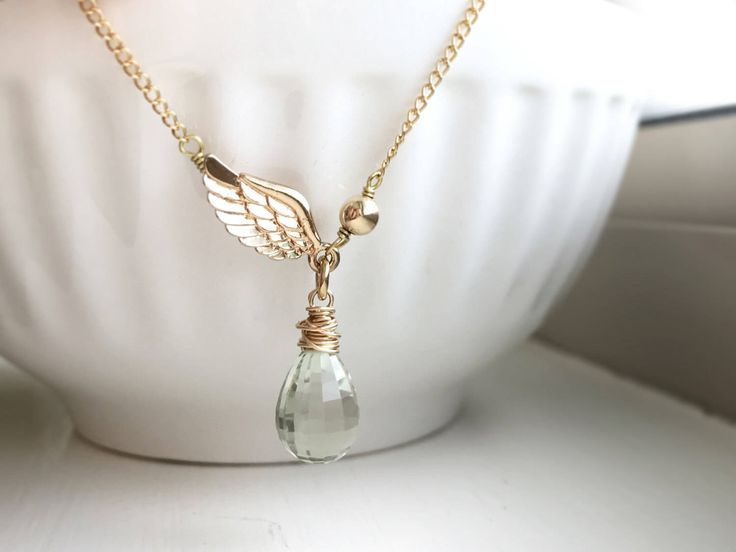 Genuine Green amethyst crystal necklace with gold filled accents/ green crystal necklace/ birthday gift by RogueCandies on Etsy https://www.etsy.com/au/listing/501787226/genuine-green-amethyst-crystal-necklace