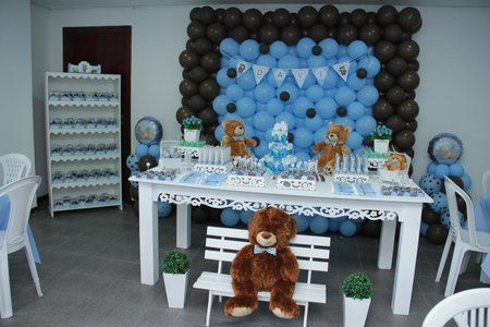 Baby shower decoraciones con globos - Decoracion con bombas para baby shower ...