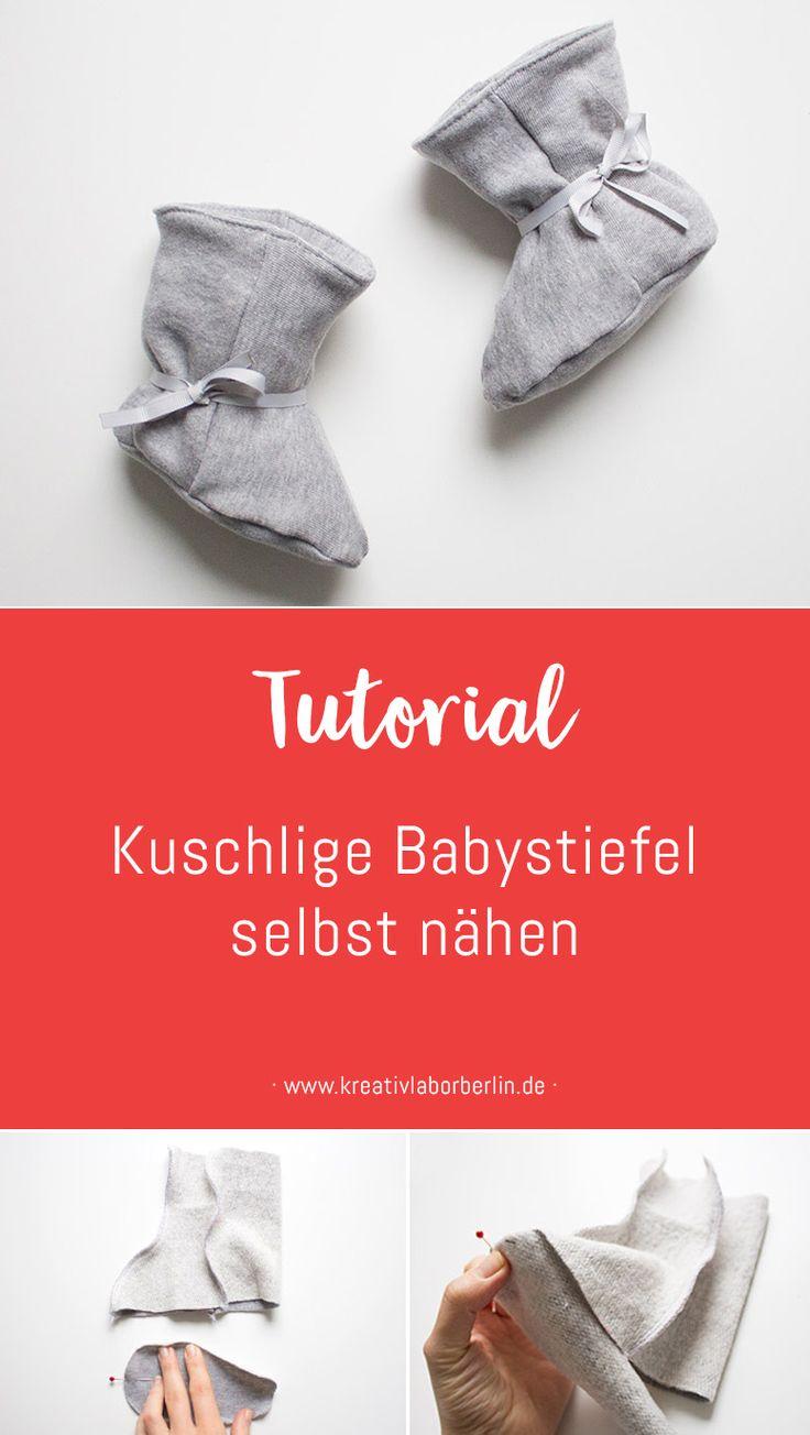 Nähanleitung: Kuschlige Babystiefel selbst nähen | Kreativlabor Berlin