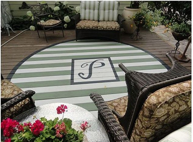 78 Best Images About Painted Rugs On Concrete Pinterest