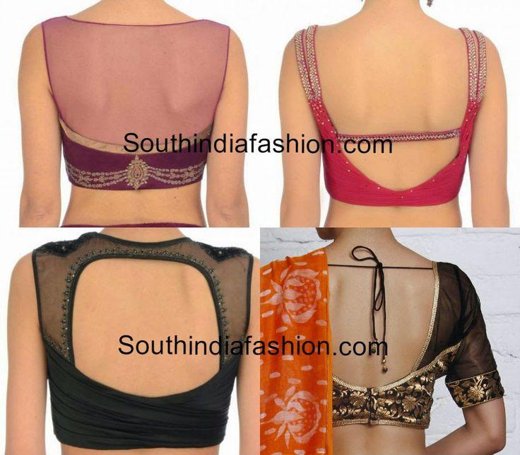 simple saree blouse neck designs