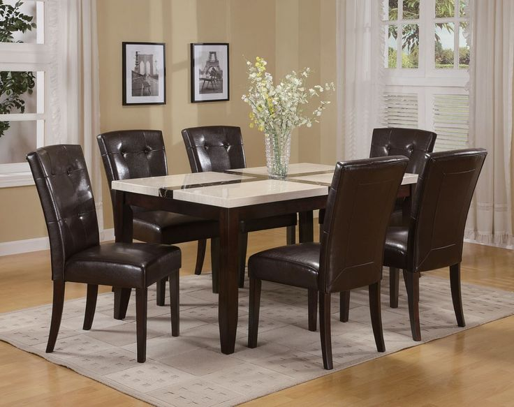 Faux Marble Top Dining Table Sets