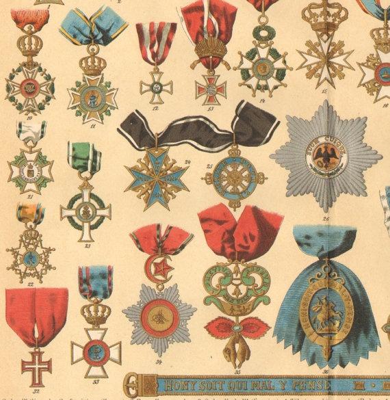 brooch plus ribbon equals medal