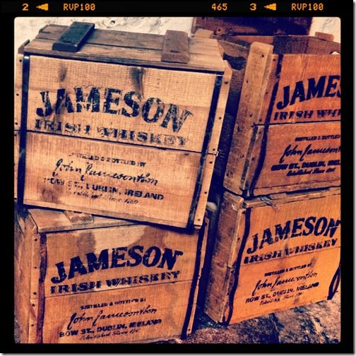 Part of the tour of The Old Jameson Distillery
