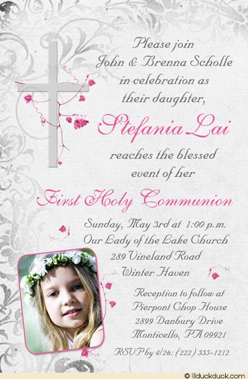 186 best Deslynu0027s Communion Ideas images on Pinterest First holy - invitation templates holy communion