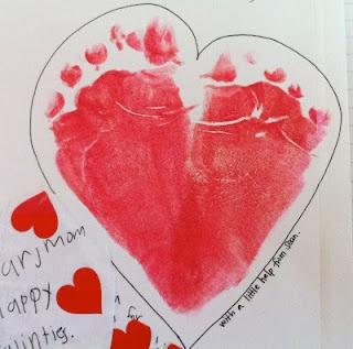 heart with feet