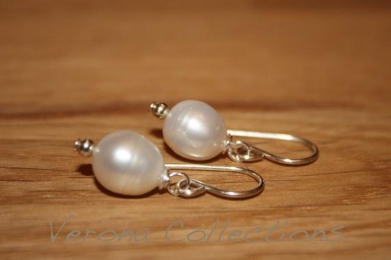 freshwater pearl earrings #earrings #jewellery
