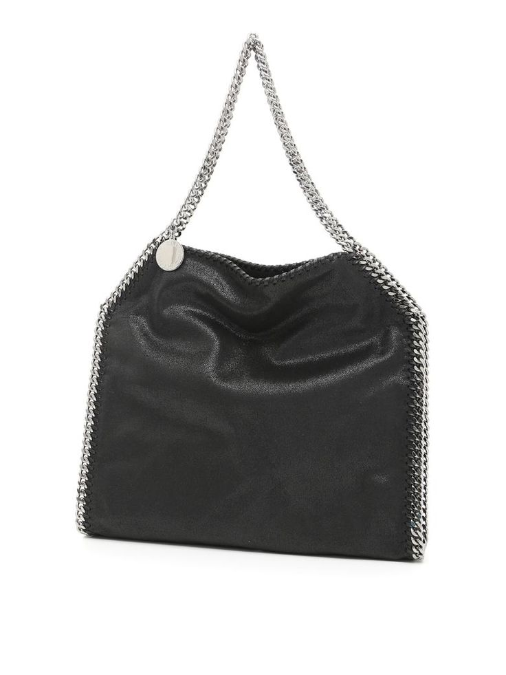 STELLA MCCARTNEY Shaggy Deer Falabella Small Tote Bag. #stellamccartney #bags #leather #hand bags #tote #lining #