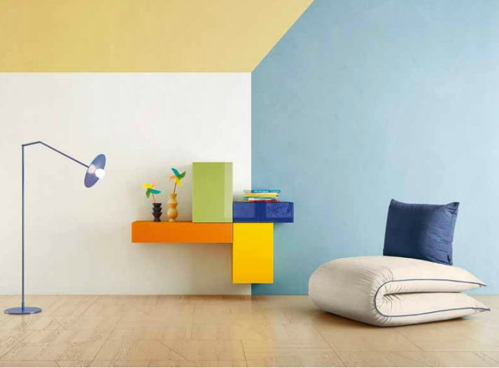 Wall-mounted composition with colored storages with fronts in glossy glass that is part of the Kids and Young collection by Lago design. Available here http://www.malfattistore.it/en/product/36e8-storage-0293/ | #malfattistore #onlinestore #modernfurniture #lagodesign #composition #bedroom #livingroom #italiandesign #homedecor #homestyle #homeideas #storage