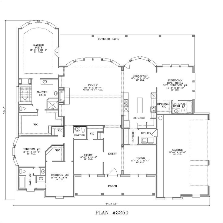 Award Winning Texas House Plans: Flipped N To S, And Move Study/med And 'dining' Where