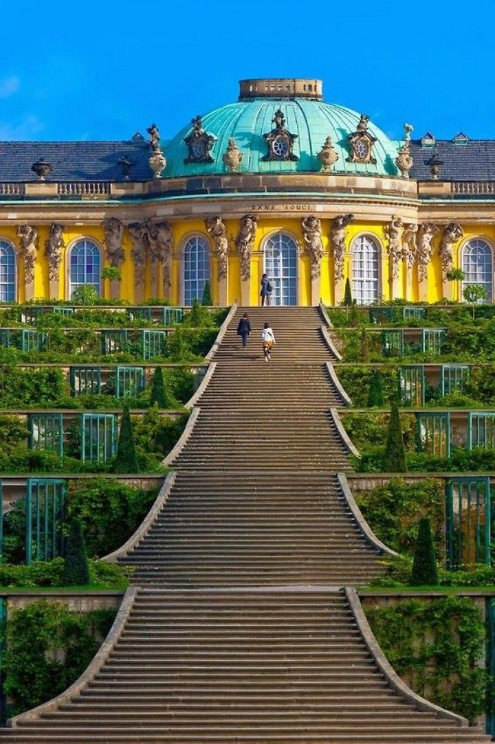 Sanssouci Palace, Potsdam, Germany Stairs, Berlin