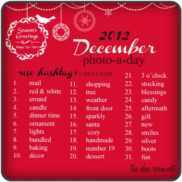 December 2012 photo a day challenge from #theidearoom