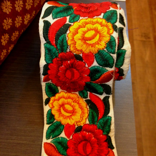 Kashmiri embroidery border fabrics pinterest
