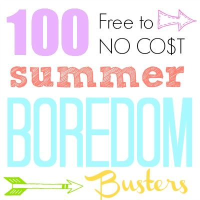 100 Summer Boredom Buster Ideas {create memories with kids}