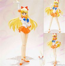 Anime Sailor Moon Venus PVC Action Figure Figurine 15cm