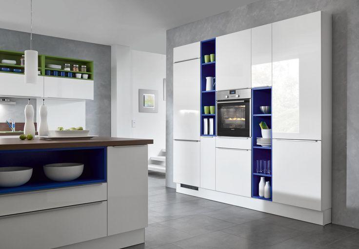 Aufbewahrungsschrank Küche Weiß Hochglanz Vila