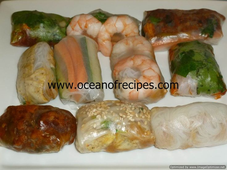 Vietnamese prawn rice paper rolls