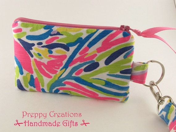 ID Wallet Student Zippered ID Case ID College by PreppyCreations
