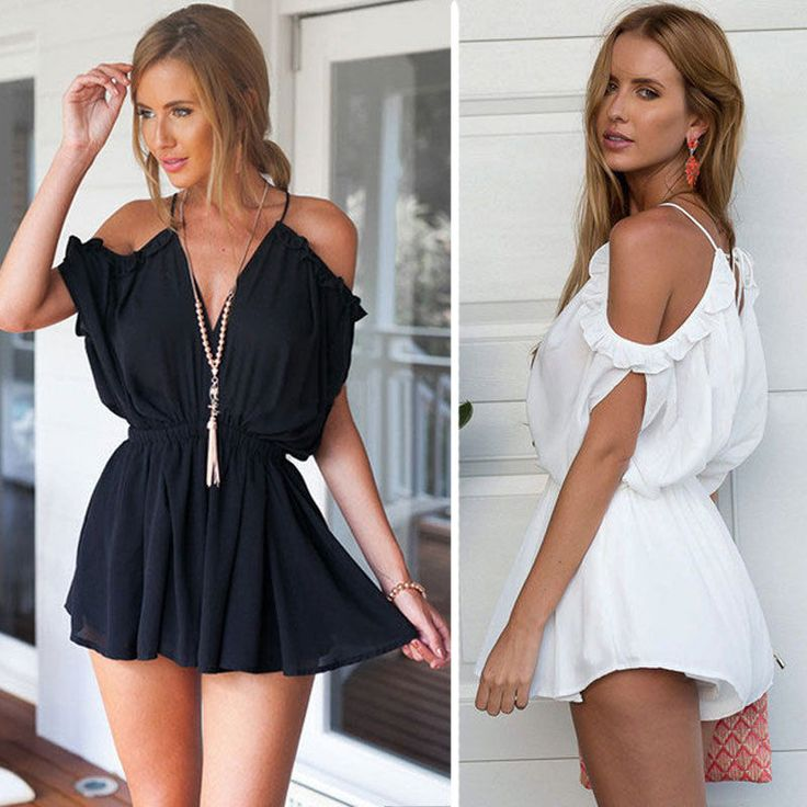 Women Clubwear Summer Playsuit Bodycon Party Jumpsuit Romper Trousers Shorts