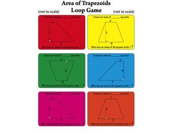 area of a trapezoid games
