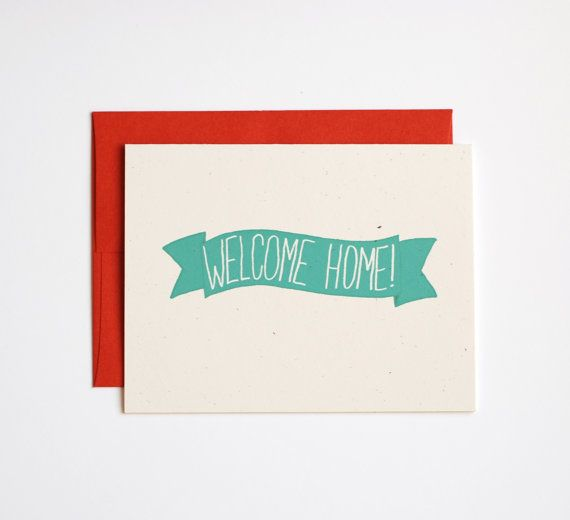 Welcome Home Card  Welcome Home Banner  Welcome Back by RowHouse14