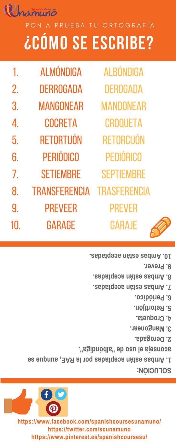 ¿Quieres poner a prueba tu ortografía en español? ¿Sabes cómo se escriben estas palabras? Este es solo uno de los aspectos que trabajamos en nuestros cursos. ¡Te esperamos!