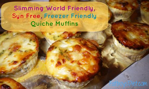 ­Slimming World Recipe Style : Slimming World Friendly, Syn Free, Freezer Friendly Quiche Muffins