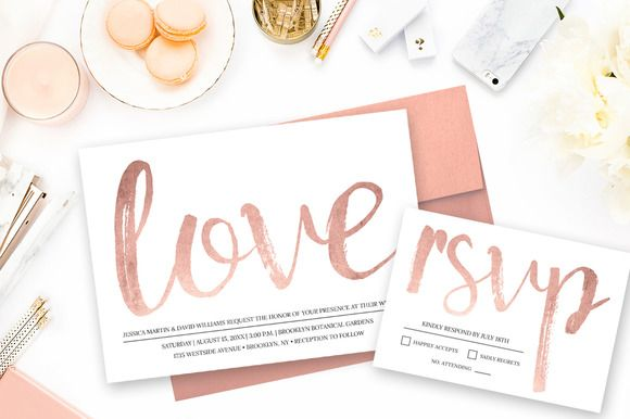 Rose Gold Wedding by Charming Ink on @creativemarket