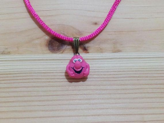 Smiley Face Vintage Necklace Handpainted by TheVintageCinderella