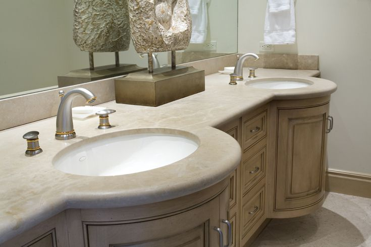 Bathroom: Mediterranean, Tuscan, European Architecture, Hardware, Faucet, Pulls, Knobs, Floor, Backsplash, Lighting, Cabinets, Raised Panel Cabinet Doors, Painted Cabinets, Counter top, Stone, Sink, Pendant Lighting, Mirror, Bath Tub, Shower, Window, Stone Floor