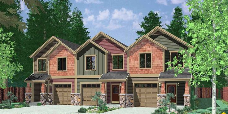 97 best triplex and fourplex house plans images on for Cost to build a fourplex