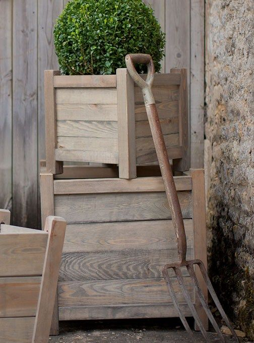 60cm Wooden Planter from Garden Trading