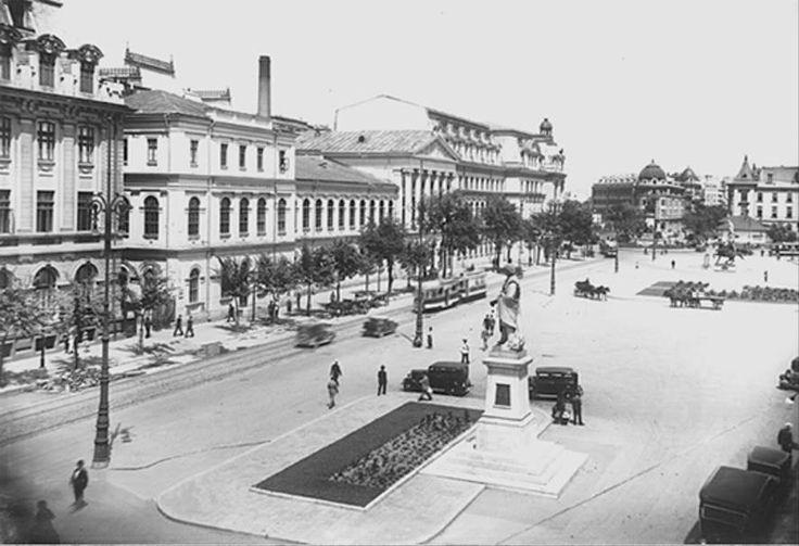 Bucuresti, actuala zona a Universitatii in perioada interbelica.