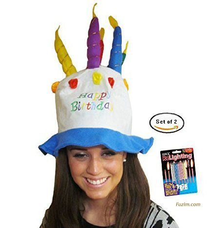 Felt Birthday Hat (Cake With Candles) Party Hat/Unisex By Funny Party Hats