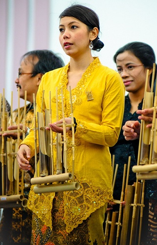 Angklung indonesian traditional music instrument