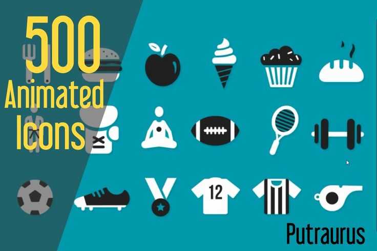 After Effects free projects : 500 Animated icons