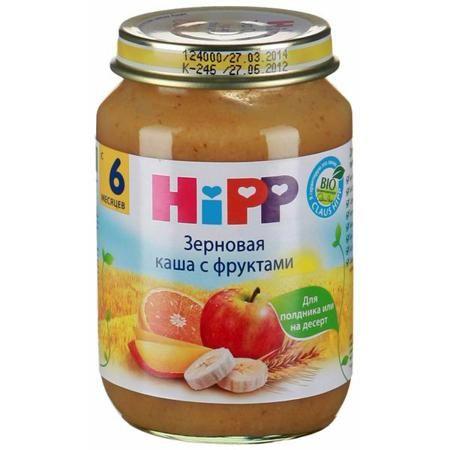 Hipp Безмолочная зерновая с фруктами с 6 мес., 190 г  — 110р. --  Каша Hipp зерновая с фруктами это полноценное питание из отборных фруктов, которое богато питательными веществами цельного зерна злаков. Не требуют подогревания – идеально подходят для полдников, как добавка к молочной каше или на десерт.  С низким содержанием кислоты, без добавления сахара, без ароматизаторов, без красителей, без консервантов, не содержит молочный белок, содержит глютен, без загустителей.  Состав: сок из…
