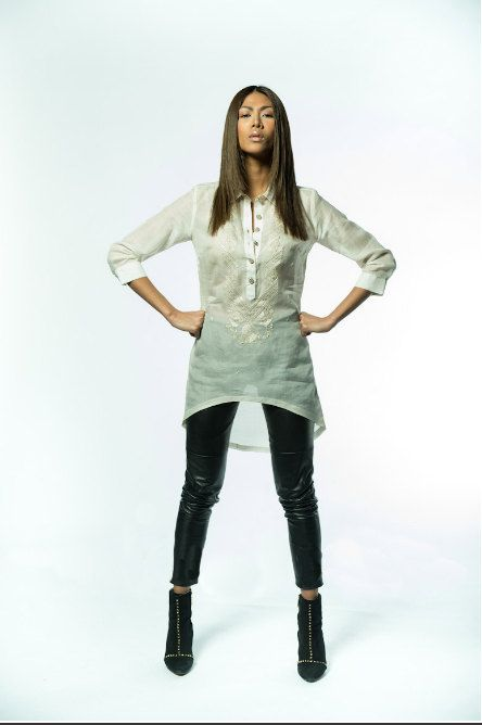 "The Tibo('tee-bo'), slang in Tagalog for ""tomboy"", is a handmade women's #Barong Tunic Dress. The barong is commonly known as men's garment, though there"