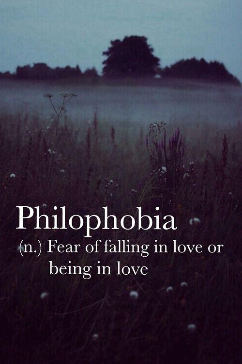 fear of falling in love phobia