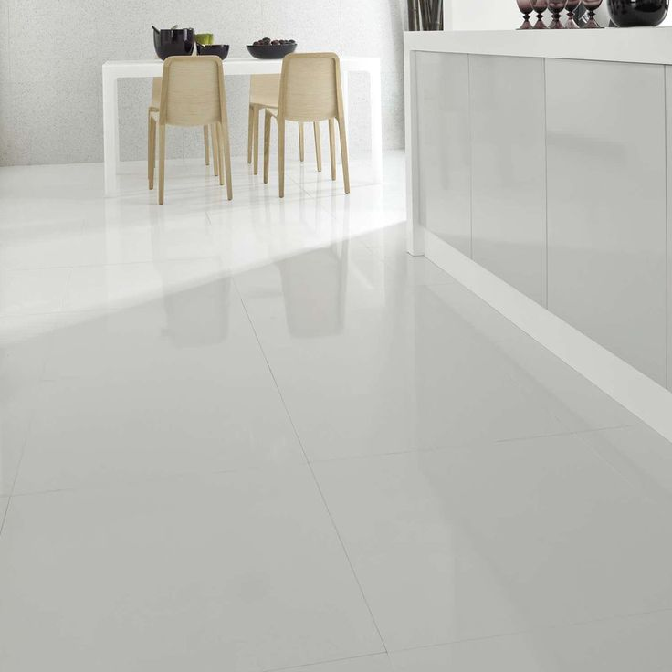 White Gloss Kitchen Flooring: 17 Best Images About White Tiles On Pinterest