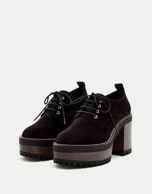 Lace-up high heel shoes - See all - Shoes - Woman - PULL&BEAR United Kingdom