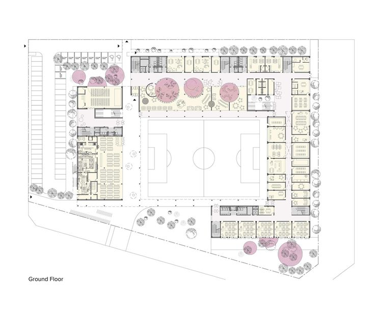 Competition design for a new Elementary School in Siheung city, South Korea #architecture #plan Daniel Valle Architects