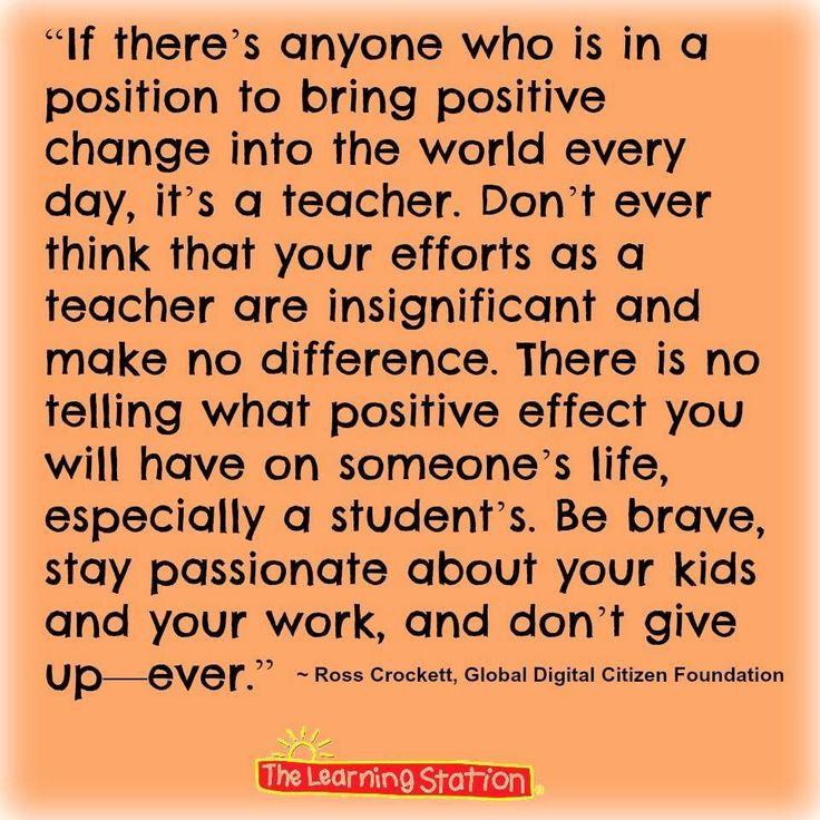 Stay motivated teachers. You matter.