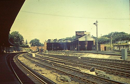 Bournemouth Central Station engine sheds, 1960s | Flickr - Photo ...