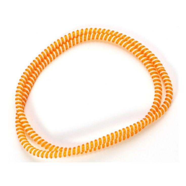 Spiral Cord Protector - 2-Tone White / Orange