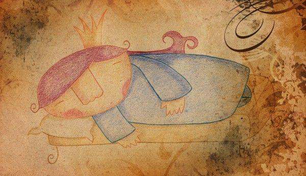 """Cuento para niños: La bella durmiente versionada, """"La bella que durmió y durmió"""""""