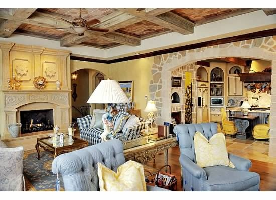 French Country Living Room And Kitchen