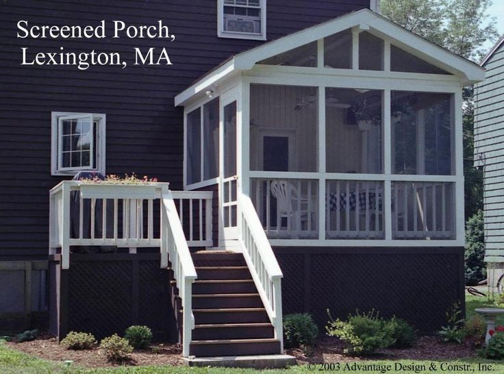 Backyard Gable Porch In Lexington, MA   Design Ideas   Archadeck