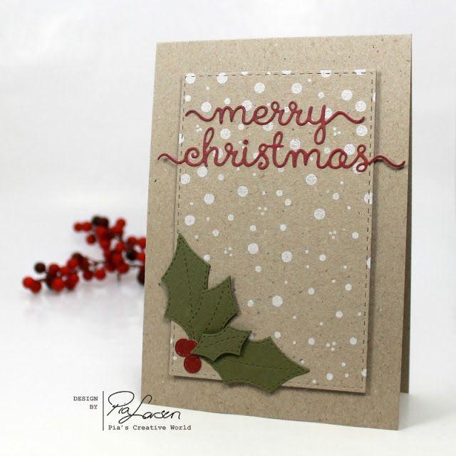 Pia's Creative World: Christmas Card with Holy Leaf