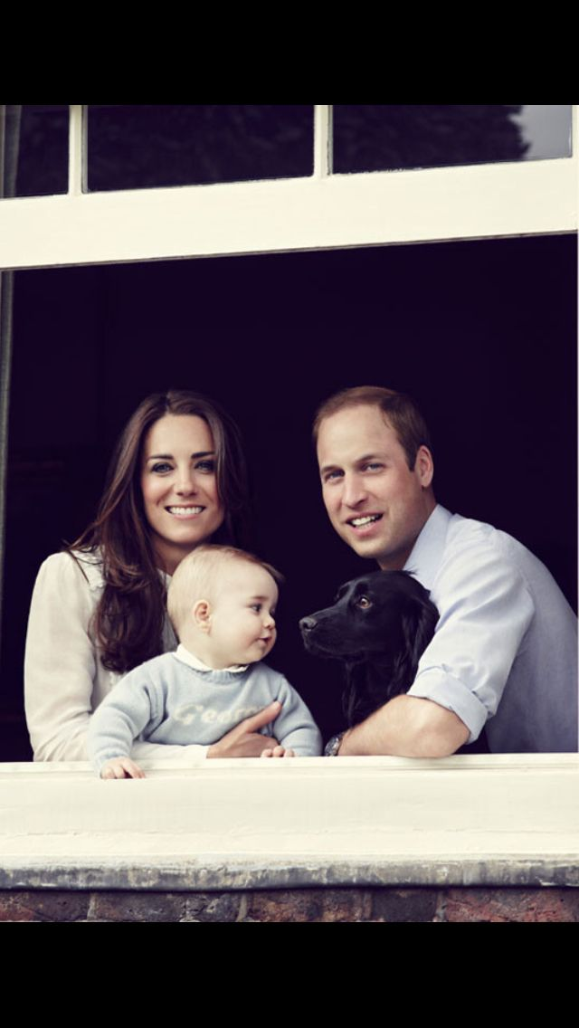 William, Kate George and Lupo!!!